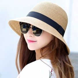 Ericdress Summer Beach Dome Crown All-Matched Straw Hat