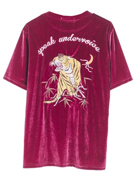 Ericdress Animal Embroidery Oversized T-Shirt
