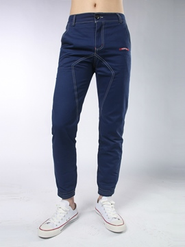 Ericdress Plain Slim Casual Men's Pencil Pants