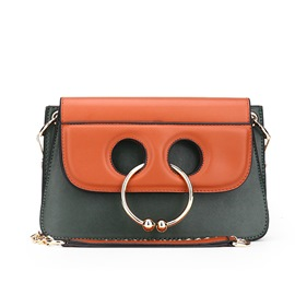 Ericdress Vogue Rose Ring Chain Crossbody Bag