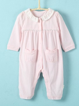 Ericdress Patchwork Pocket Baby Girls Jumpsuit