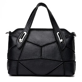 Ericdress Leisure Patchwork Cowhide Handbag