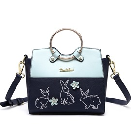 Ericdress Ladylike Color Block Animal Embroidery Handbag