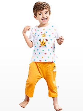 Ericdress Animal T-shirt Ankle Length Pants Boys Outfit