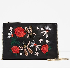 Ericdress Rose Embroidery Envelope Shoulder Bag