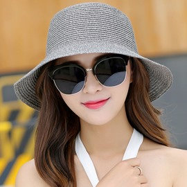 Ericdress Short Brim Design Straw Plaited Dome Sun Hat