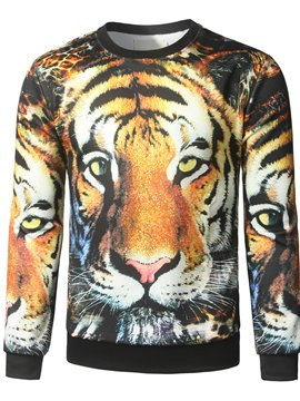 Ericdress 3D Tiger Print Unique Casual Men's Hoodie