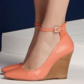 Ericdress Pretty Orange Point Toe Ankle Strap Wedges