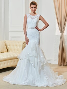 Ericdress Amazing Jewel Lace Mermaid Wedding Dress