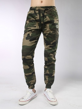 Ericdress Camouflage Elastic Waist Pencil Casual Men's Pants