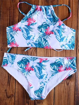 Ericdress Lovely Floral Print Bikini Set