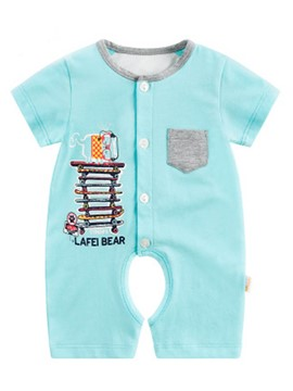 Ericdress Spring Cartoon Short Sleeve Baby's Jumpsuit