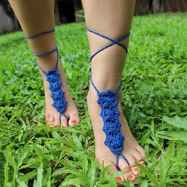 Ericdress Handmade Crochet Beach Anklets(Price for One Pair)