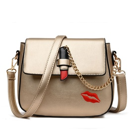 Ericdress Trendy Lips Print Latch Shoulder Bag