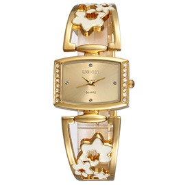Ericdress Flowers Band Design Diamante Dial Women's Watch