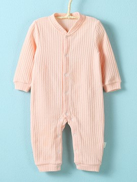 Ericdress Plain Cotton Long Rompers Baby's Jumpsuit