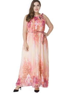 Ericdress Print Expansion Plus Maxi Dress