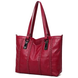 Ericdress Simple Big Capacity Woven Handbag