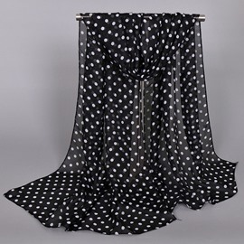 Ericdress Little Dots Design Thin Chiffon Scarf
