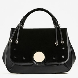 Ericdress Plain Pattern Flip Design Handbag