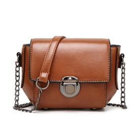 Ericdress Casual Flap Waxy Leather Shoulder Bag