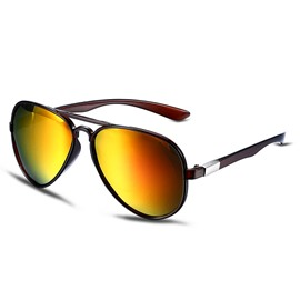 Ericdress Color Film Polarized Frog Mirrors Sunglasses