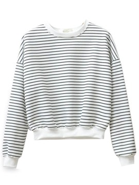 Ericdress Stripe Casual Crop T-Shirt
