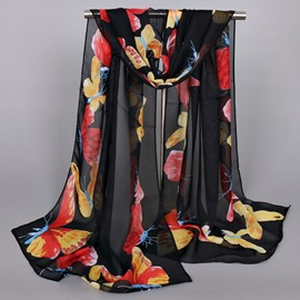 Ericdress Splendid Butterfly Printed Thin Chiffon Scarf