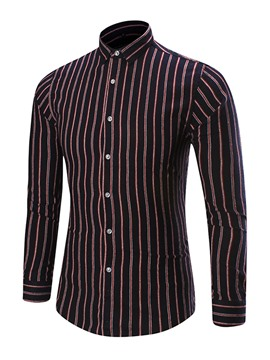 Ericdress Long Sleeve Vertical Stripe Men's Shirt