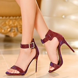 Ericdress Graceful Sequins Open Toe Stiletto Sandals