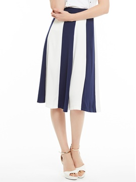 Color Block Patchwork A-Line Skirt