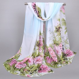 Ericdress New Style Beautiful Peony Printed Women's Scarf