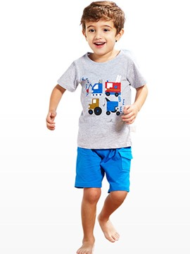 Ericdress Patchwork Button Boy's T-Shirt
