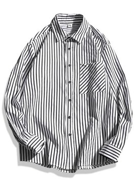 Ericdress Vintage Stripe Cotton Blends Men's Shirt