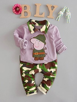 Ericdress Camouflage Cartoon Boys Suit