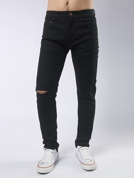 Ericdress Pain Unique Iregular Holes Casual Style Men's Pants