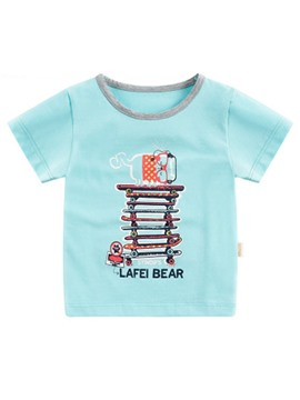 Ericdress Print Scoop Summer Boys T-Shirt