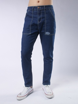 Ericdress Straight Denim Pocket Casual Men's Jeans