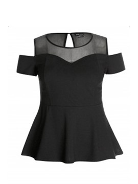 Ericdress Round Neck Slim Plus Size T-Shirt
