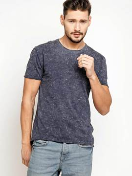 Ericdress Plain Slim Round Neck Short Sleeve Men's T-Shirt