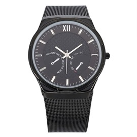 Ericdress Concise Stainless Steel Strap Watch for Men