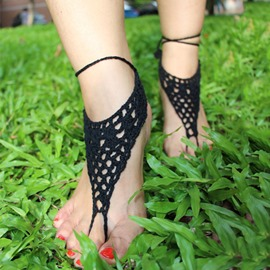 Ericdress Handmade Crochet Hollow Anklets(Price for One Pair)