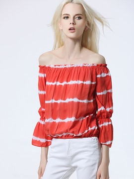 Ericdress Stripped Slash Blouse