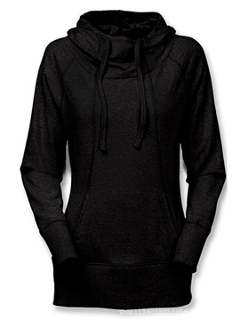 Ericdress Plain Lace Hollow Hoodie