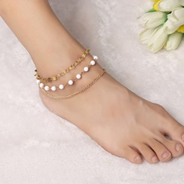 Ericdress Multilayer Handmade Beaded Sequins Anklet
