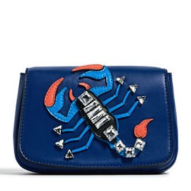 Ericdress Blue Scorpio Design Square Shoulder Bag