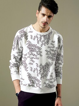 Ericdress Unique Letter Print Crew Neck Vogue Casual Men's Hoodie