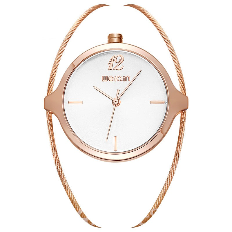 Ericdress Fashion Personality Steel Wire Band Womens Watch