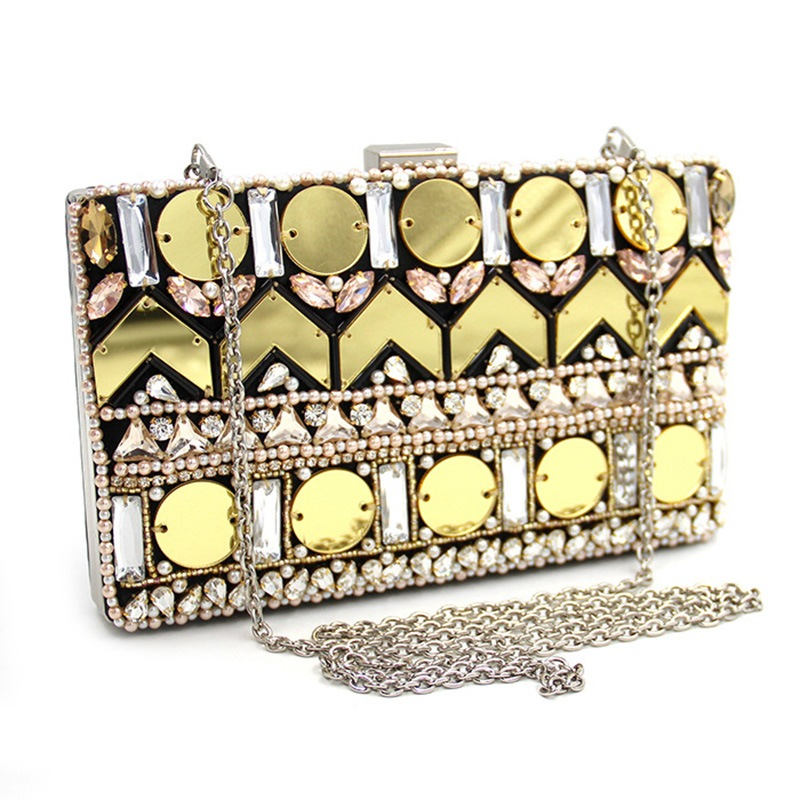 Ericdress Gold Handmade Sequin Beaded Evening Clutch