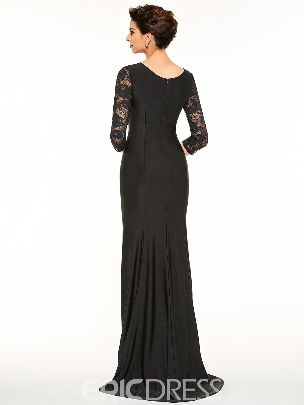 f6608c1dfa0 Ericdress Half Sleeves Lace Sheath Mother Of The Bride Dress ...